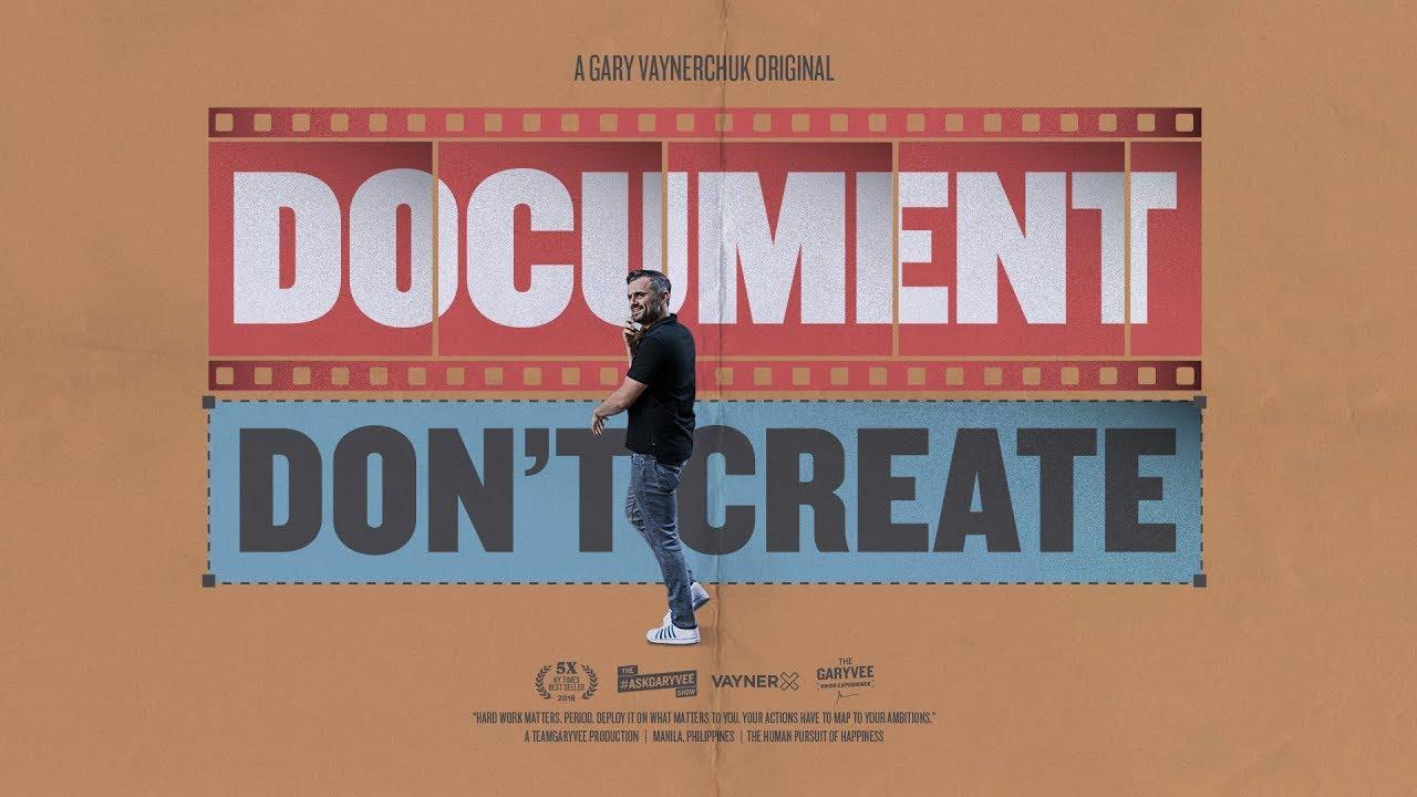 گری وی - مستندسازی کن نه تولید